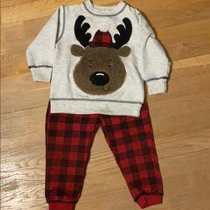 Toddler Boy Winter Moose Matching Set